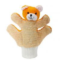 MYCÍ RUKAVICE-medvídek oranžový