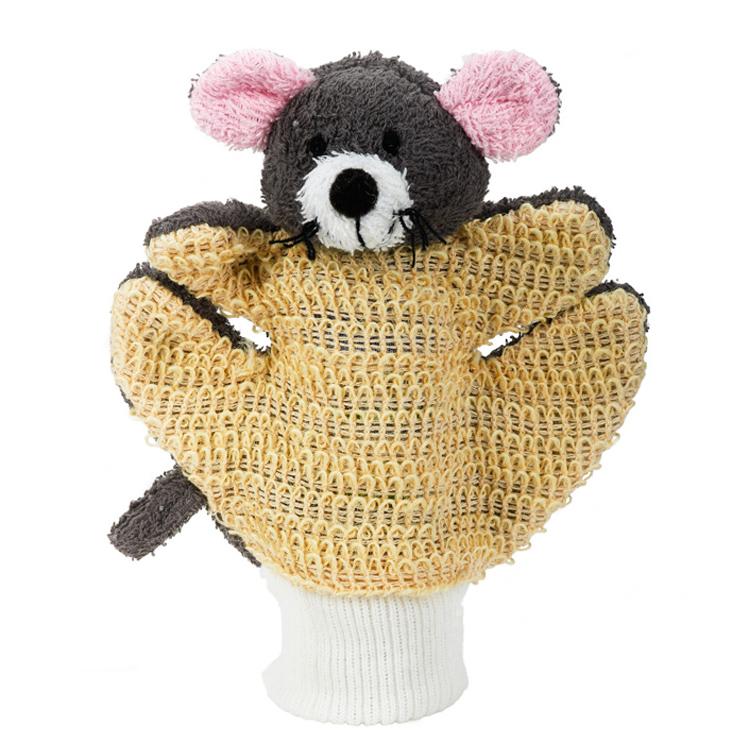 Mycí rukavie ramie - froté - myška šedá  - zvìtšit obrázek